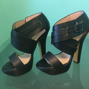 Black Heels w/Buckle ankle strap...Never Been Worn